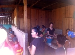 Serving lunch to the kids in Nueva Vida.
