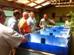 Doug Effinger shares about his aquaponics experiments with a team.